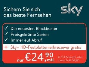 Der Sky-Werbebanner zur aktuellen Aktion