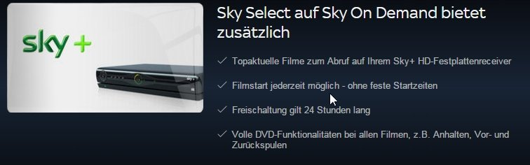 Select Receiver Sky Ohne