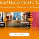 1€ / Monat für Sky Ticket Cinema (93% Rabatt)!