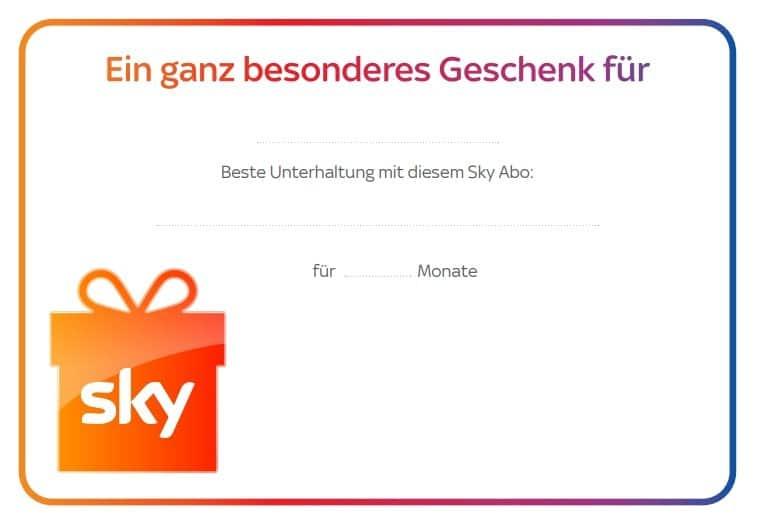 Sky Abo Gutschein