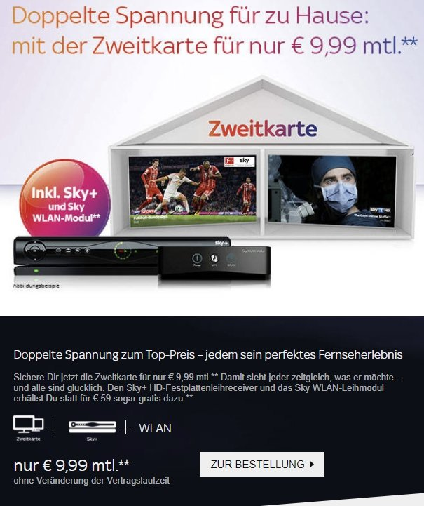 Dont Angebot Sky Zweitkarte auctions