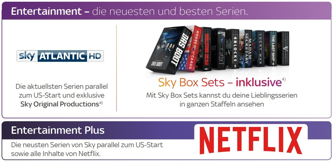 Sky Entertainment Plus - Sky&NETFLIX Paket für alle Serien-Fans in ...