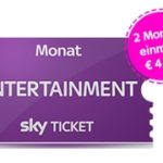 4,99€ einmalig*. Sky Ticket Entertainment. Über 2 Monate lang. 🎬