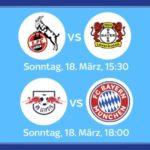 Leipzig vs. Bayern & Köln vs. Leverkusen – LIVE – Für nur 9,99€/Tag!