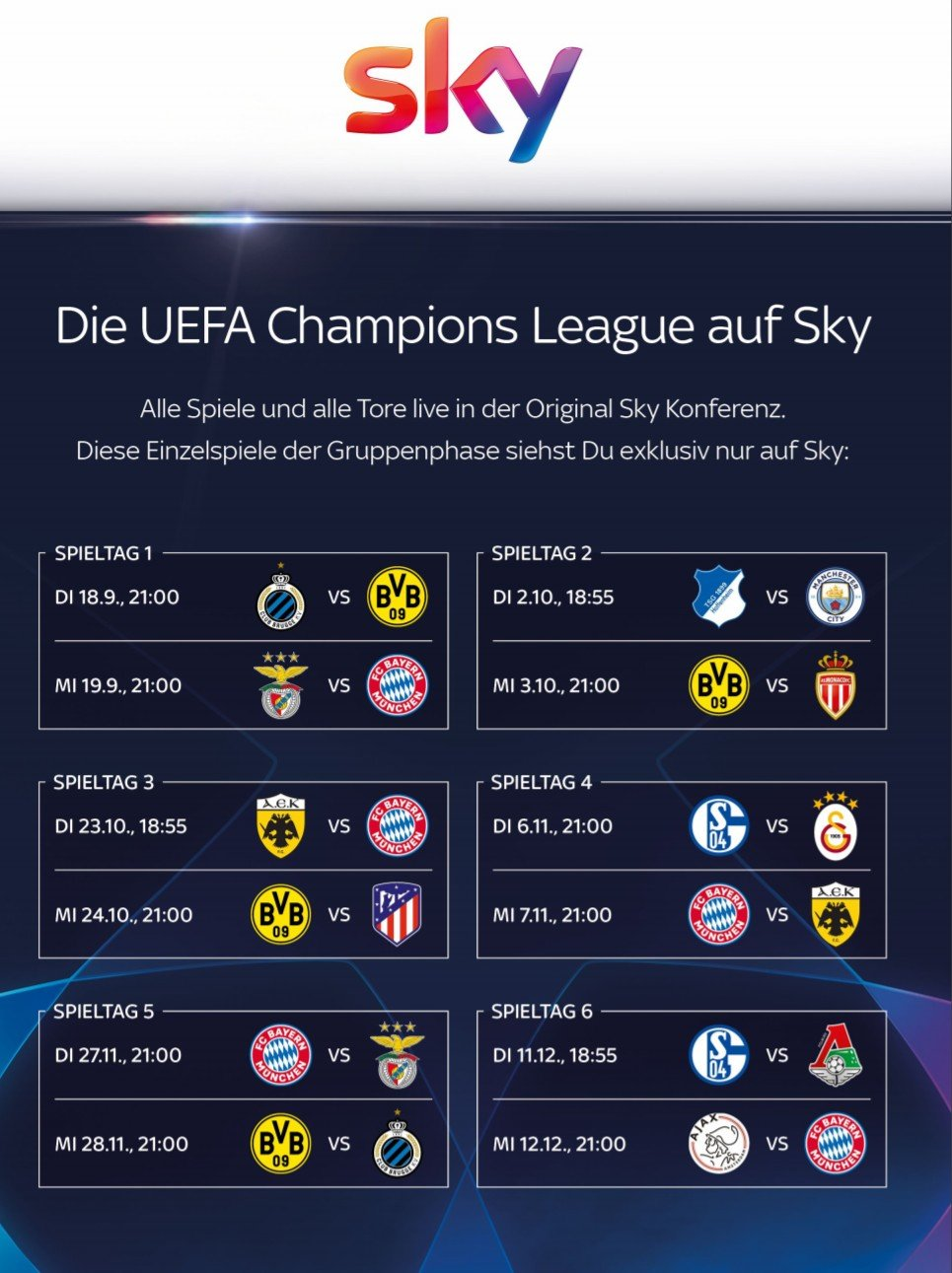 Spielplan Champions League
