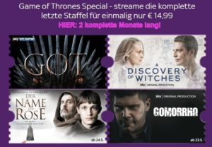 Sky Ticket Game of Thrones Special - nur 14,99€ für komplette 2 Monate