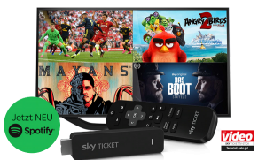 Sky Ticket TV Stick 29,99€ inkl. bis zu 3 Monate Sky Ticket! NEU: Spotify-App!