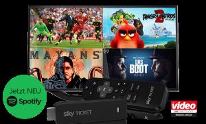 Sky Ticket TV Stick 29,99€ inkl. bis zu 3 Monate Sky Ticket! NEU: Spotify-App!