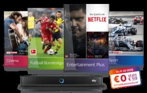 12-Monats-Sky Angebot inkl. Netflix, Sky Q & Receiver - JETZT: 0€ Aktivierung!