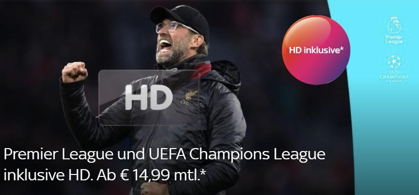 Sky Sport Paket inklusive HD & UHD - Premier League Special - ab 14,99€/Monat
