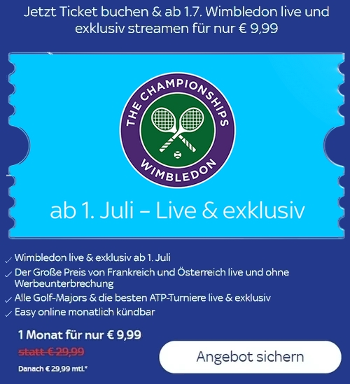 Sky Wimbledon Ticket
