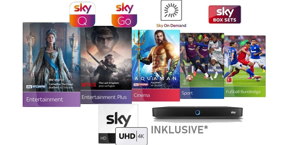 Sky komplett Angebote 🔥 Alle Sky Pakete + NETFLIX sichern!