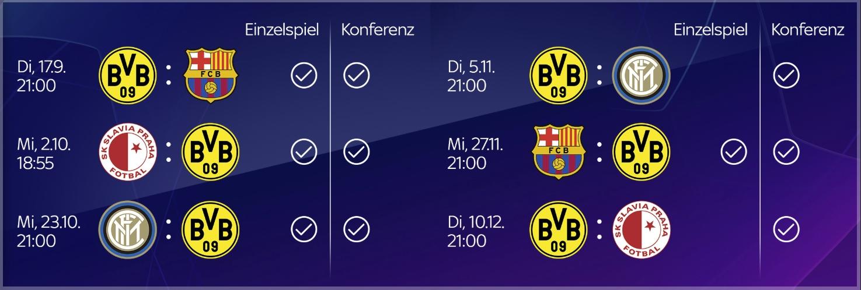 BVB Champions League Live bei Sky