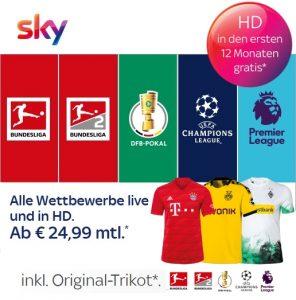 Sky Sport Kombi Angebot - ab 24,99€ inkl. HD/UHD & Original-Trikot*!