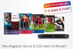 Sky Preisgarantie Special: +2,50€ mehr für dauerhaften Angebots-Preis. Jederzeit kündbar!