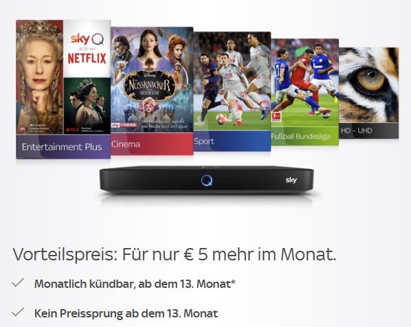 Sky Preisgarantie Special: +5€ mehr für dauerhaften Angebots-Preis. Monatlich kündbar!