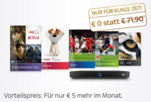 Sky Preisgarantie Special: +5€ mehr für dauerhaften Angebots-Preis. Jederzeit kündbar!