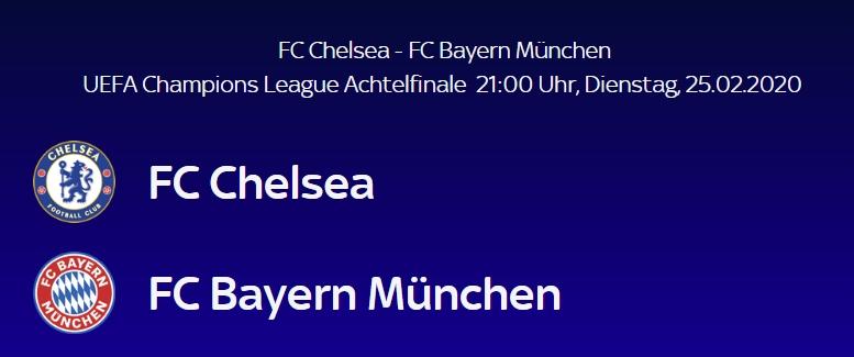 Champions League 2020 Achtelfinale