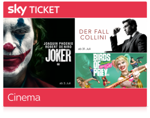 Sky Cinema Ticket Angebot - für 7,49€ Sky Filme streamen!
