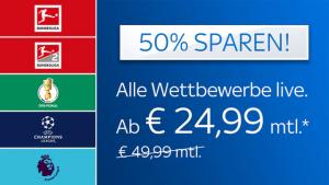 KURZ: Fußball-Special für nur 24,99€/Monat*!