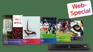 ALL INCLUSIVE! Sky komplett Angebot: 39,99€ inkl. HD & Netflix 🔥 Alle Sky Pakete sichern!