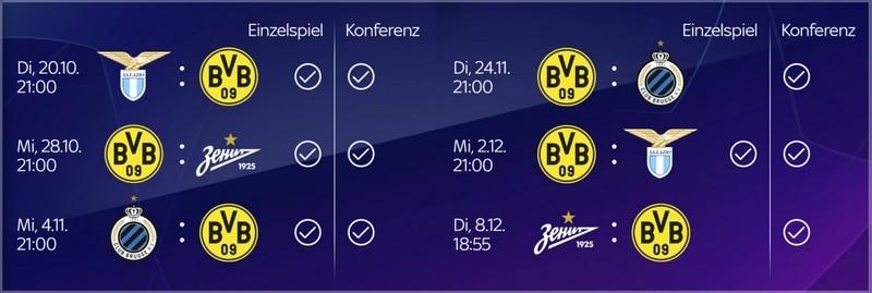 Bvb Champions League Sky