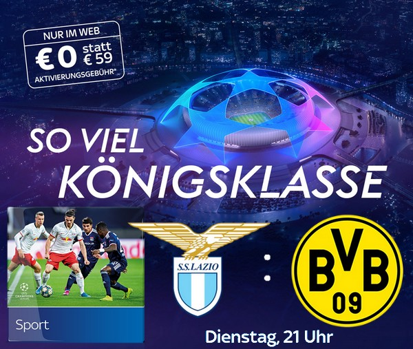 Sky Champions League Start Angebot 2020/21 - ab 17,50€/Monat!