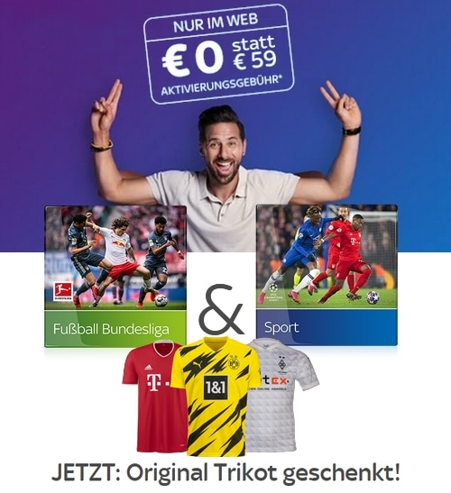 Sky Saison-Angebot 2020/21 - Alles Live: nur 30€/Monat! JETZT: Inklusive Trikot!