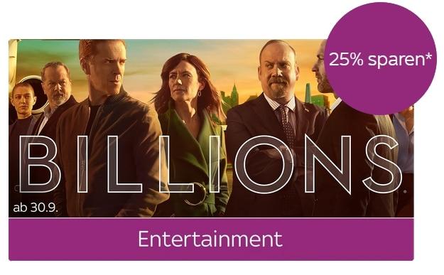 Sky Entertainment Ticket - ALLE Serien für 7,49€ im 1. Monat!