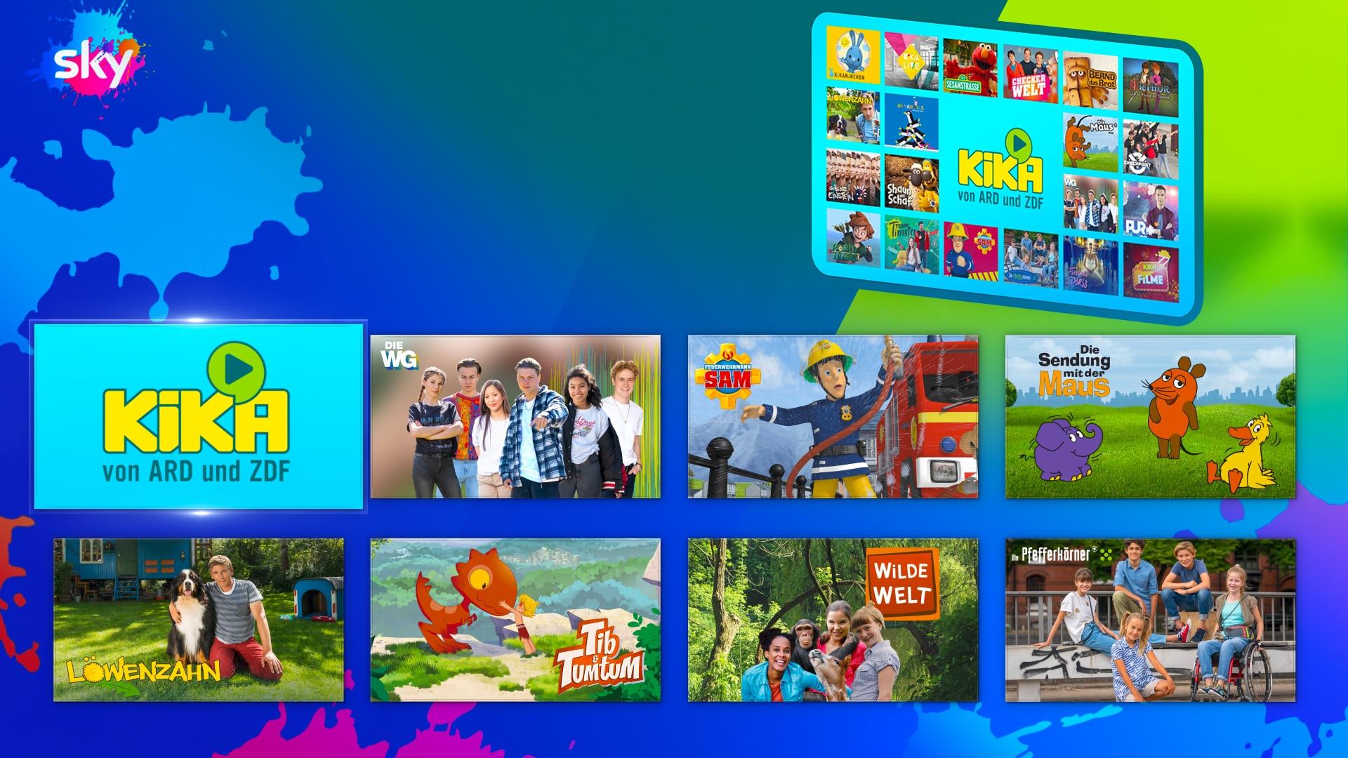 Die KiKA-Player App auf Sky Q