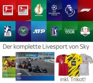 Live-Sport Komplett Angebot in HD - nur 30€/Monat! JETZT: Inklusive Trikot!