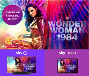 Wonder Woman 1984 - Kinofilm exklusiv bei Sky ab 18.02. - ab 10,99€ streamen