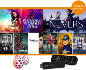 Sky Ticket Oster-Special 2021: Sky Ticket ab 7,49€ + TV Stick geschenkt!