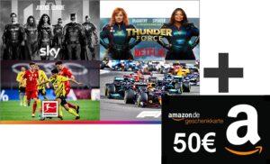 HIER: 50€ Amazon-Gutschein zum Sky Q Abo ab 12,50€/Monat!