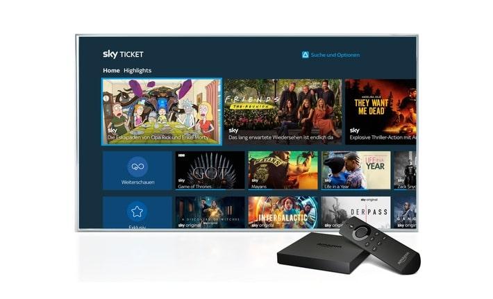 Sky Ticket auf weitere Fire TV-Geräten verfügbar