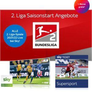 2. Liga 2021/22 komplett Live - nur 25€ im Sky Q Abo - JETZT: 1 Freimonat + 50€ Gutschein