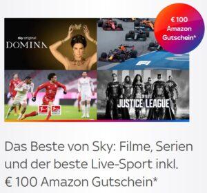 ALL INCLUSIVE! 🔥 Sky komplett Angebot: ab 40€/Monat! JETZT: 100€ Amazon-Gutschein!