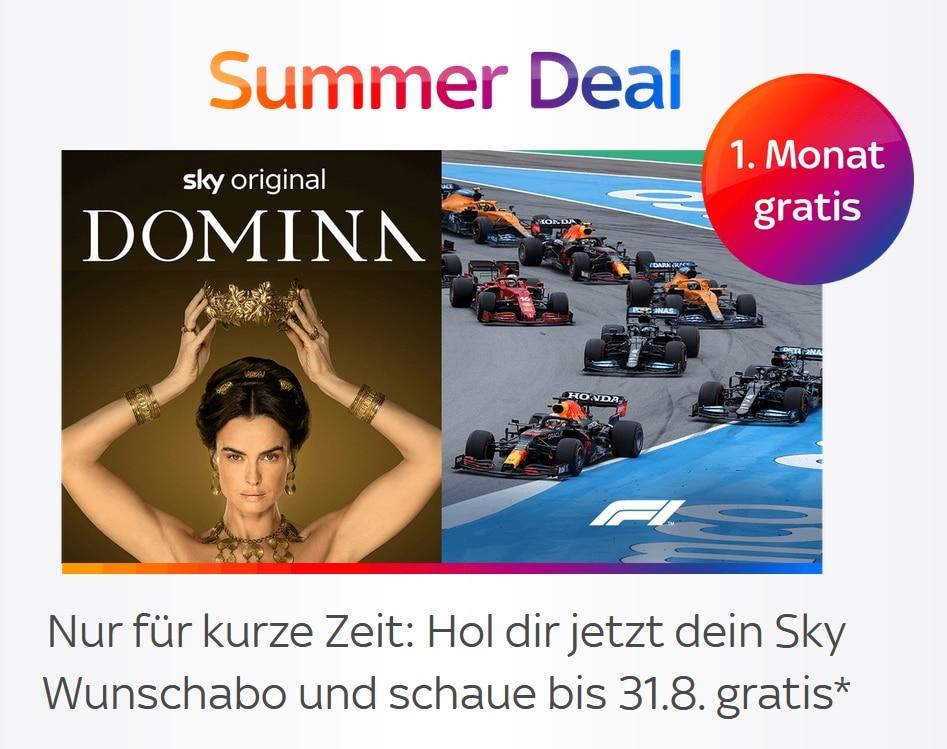 Summer Deal 2021: Sky Q Abo jetzt buchen und bis 31.08.2021 Sky kostenlos schauen!