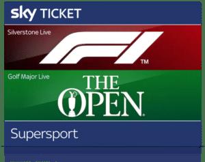 Sky Supersport Ticket inkl. Formel 1, The Open, Bundesliga & 2. Liga Live ⚽️ JETZT: ab 19,99€/Monat!