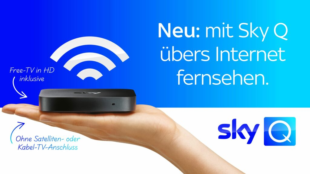 Sky Q ganz einfach über das Internet