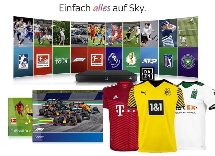 Live-Sport Komplett Angebot 2021/22 - nur 30€/Monat! JETZT: Trikot & 125€ Gutschein!
