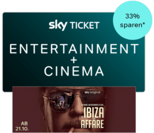33% Rabatt: Sky Entertainment & Cinema Ticket nur 9,99€ im 1. Monat!