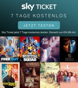 Sky Entertainment & Cinema Ticket 1 Woche kostenlos testen, dann nur 14,98€