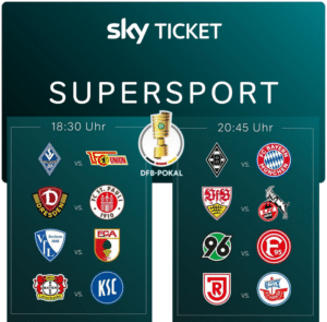 Sky Supersport Ticket inkl. Bundesliga, 2. Liga, DFB-Pokal & Formel 1 Live ⚽️ JETZT: ab 19,99€/Monat (33% Rabatt)!